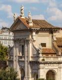 Romański forum, Santa Francesca Romana Zdjęcie Royalty Free
