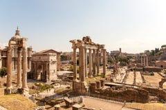 Romański forum w Rzym Obrazy Royalty Free