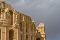 Romański kolosseum przy El Djem Zdjęcie Stock