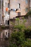 Romański podwórze; cortile romano Zdjęcia Stock