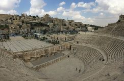 Romański teatr Obraz Royalty Free