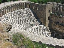 Romański Theatre przy Aspendos, Turcja Zdjęcia Stock