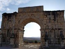 Romańskie ruiny Volubilis Zdjęcia Royalty Free