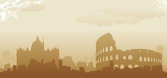 Roma skyline. Abstract vector illustration Stock Photo