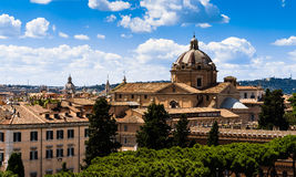 Roma skyline. The skyline of roma ,Italy royalty free stock images