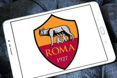 Roma soccer club logo Royalty Free Stock Photo