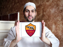 Roma soccer club logo Stock Photography