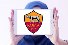 Roma soccer club logo Royalty Free Stock Image