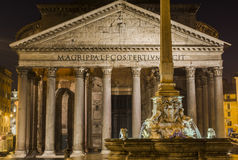 Roma 2015(pantheon/nigth/rome). Square of the Pantheon in Rome at night Stock Photography