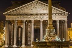 Roma 2015(pantheon/nigth/rome) Stock Photography