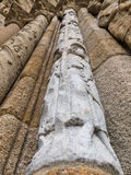Romańszczyzny szpaltowa Platerias fasada Obrazy Royalty Free