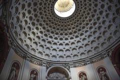 Roma, terme del alle de San Bernardo, bóveda de la iglesia imagen de archivo libre de regalías