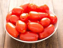 Roma tomatoes. Close up of a bowl of roma tomatoes stock photography