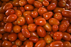 Roma tomatoes. In an outdoor market Royalty Free Stock Image