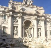 Roma Trevi Fountain Beautiful Imagens de Stock Royalty Free