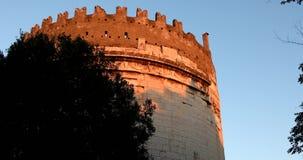 Roma, tumba del vídeo real de Caecilia Metella 4k almacen de metraje de vídeo