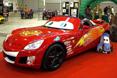 Roma Tuning show 2013 - Lightning McQueen. Special and Sports Car Show held in Rome, Custom car from italy, europe, world. Reproduction of car Cars cartoon Stock Photography