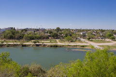 Winding Rio Grande River separating U.S. and Mexico Royalty Free Stock Image
