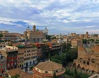 Roma vecchia e nuova Fotografia Stock
