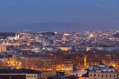 Roma veduta da sopra Fotografia Stock Libera da Diritti