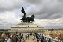 Roma: Venezia quadrato, l'altare della patria Fotografia Stock