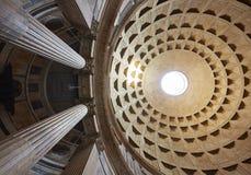 Roma, vista da abóbada do panteão fotografia de stock