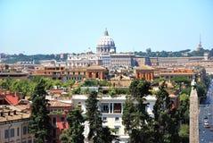 Roma - vista da casa de campo Borghese Foto de Stock