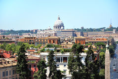 Roma - vista dalla villa Borghese Fotografia Stock