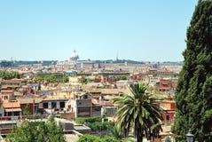 Roma - vista dalla villa Borghese Fotografia Stock Libera da Diritti