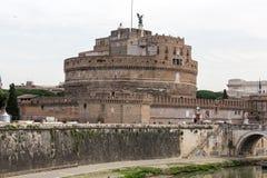 Roma - vista del ` Angelo di Castel Sant Immagini Stock Libere da Diritti