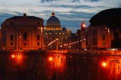 Roma, vista della cattedrale di St Peter Fotografia Stock