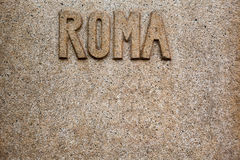 Roma word Stock Images