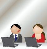 Romaans bureau stock illustratie