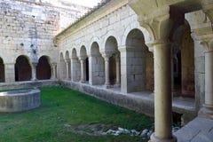 Romaans klooster van Santa Maria de Vilabertran, Stock Fotografie