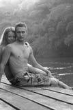 romaans Liefde Paar van jonge minnaars Stock Foto's