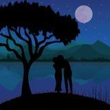 Romaans onder de Maan, Vectorillustraties Stock Fotografie