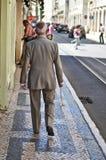 Romaans op de straten van Lissabon Stock Foto
