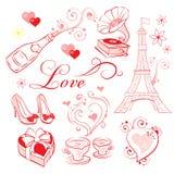 Romaanse de Dag van Valentine Royalty-vrije Stock Foto's