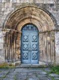 Romaanse deur van Paderne klooster Royalty-vrije Stock Foto's