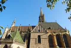 Romaanse kerk in Thann, Frankrijk Stock Foto