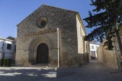 Romaanse kerk van Santa Cruz, Baeza, Provincie van Jaen, Andalu stock foto's