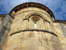 Romaanse kerkbuitenkant Royalty-vrije Stock Foto