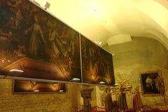 Romaanse zaal, het Strahov-Klooster, Praag Stock Fotografie
