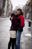 Romace en la ciudad Foto de archivo libre de regalías