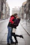 Romace na cidade Foto de Stock Royalty Free