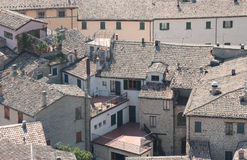 Romagna Houses aerial view Royalty Free Stock Image