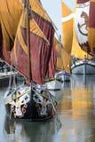 Romagna, Italie, bateaux antiques de marina de Cesenatico photo libre de droits