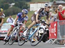 Romain Bardet et Thibault Pinot  Tour de France 2015 Royalty Free Stock Photos