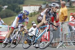 Romain Bardet et Thibault Pinot  Tour de France 2015 Royalty Free Stock Photography