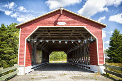 The Romain Caron covered bridge Royalty Free Stock Photo
